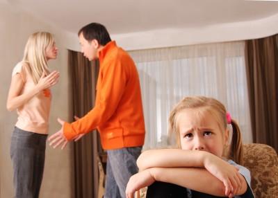 Can parent arguments hurt a child's mental development?