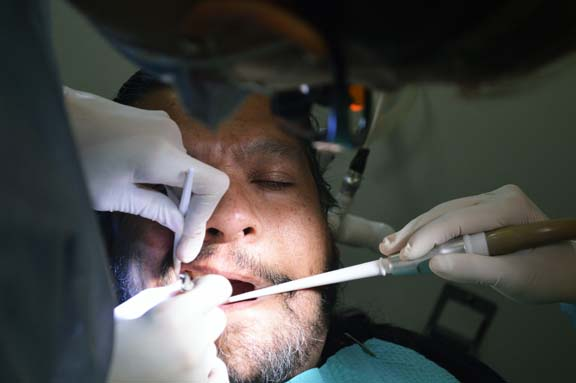 Jose Rodriguez, Jr. gets a tooth removed.