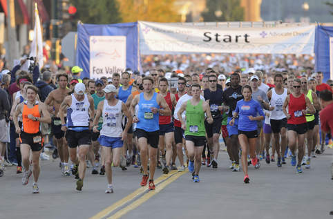 Marathon medics keep runners on their feet