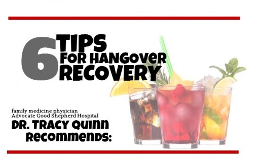 Infographic: 6 tips for hangover recovery