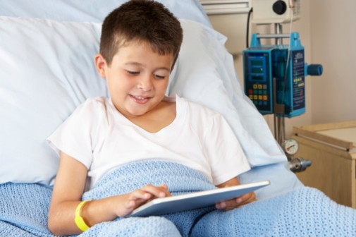 Virtual visits reduce stress in hospitalized kids