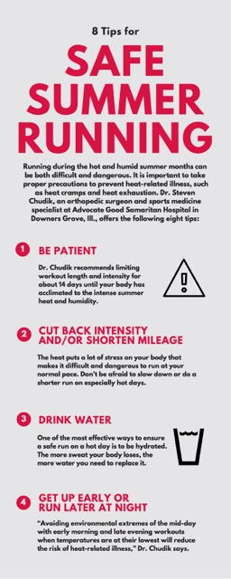 8 tips for safe summer running HEN infographic page 1