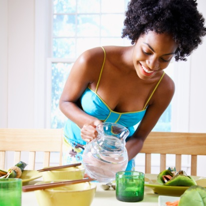 Drinking water before a meal can help with weight loss