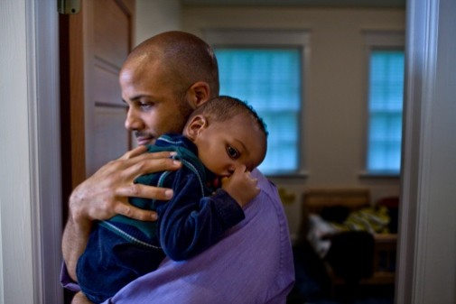 First-time fathers can also experience the baby blues