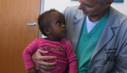 Repairing the spine of a little girl from Africa