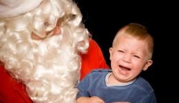 My kid is afraid of Santa, now what?