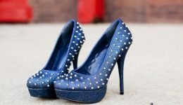 Healing from breast cancer with blue, spiky heels