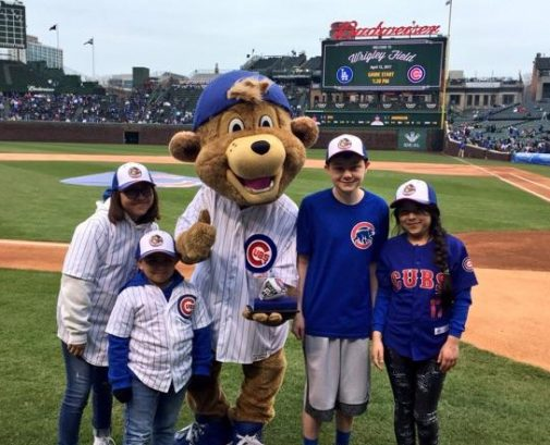Gallery: Advocate Children's Hospital kids present World Series ring to Clark the Cub