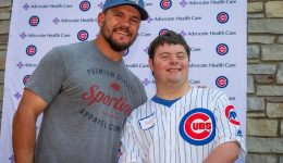 Chicago Cubs Player Kyle Schwarber gives the Adult Down Syndrome Center a day to remember
