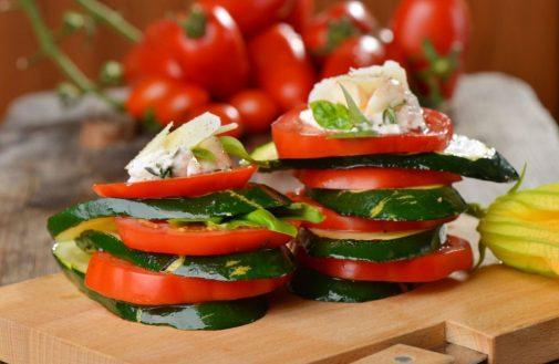 Featured Recipe: Grilled zucchini caprese towers