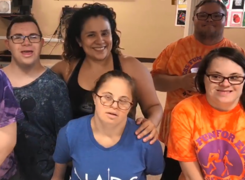 Dancing at the Adult Down Syndrome Center
