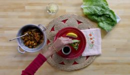 Recipe: Channa Masala Lettuce Wrap