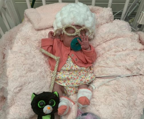 Preemies dress up to celebrate their first Halloween