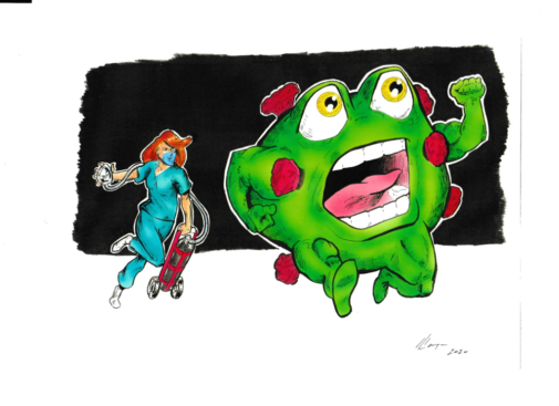 It's national superhero day. Here's how one artist sees the fight against COVID-19.
