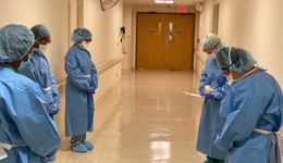 Social distancing sparked a new tradition for these nurses