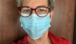 Her team members helped her get through the pandemic