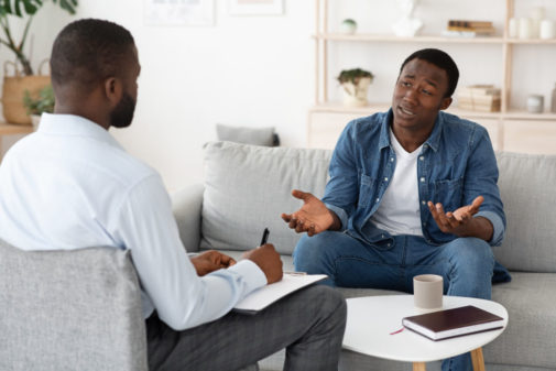 Men are less likely to seek mental health services