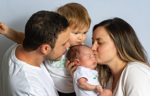 One family recounts six weeks apart due to a pregnancy complication