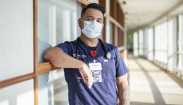Working his way through nursing school